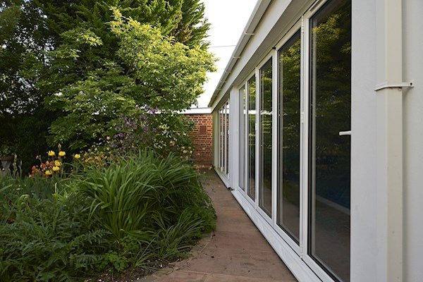 REAL bi-fold doors extending out into garden